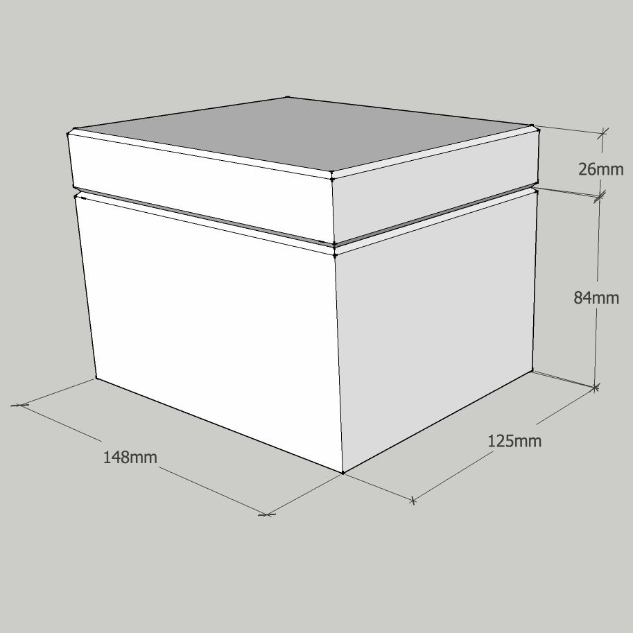 Plain Wooden Box 14 8 X 12 5 X 10 5 Cm